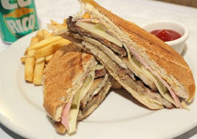 Cubano lunch with Fries